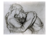 Study for 'The Blessed Damozel'  C1876 (Graphite on Paper)