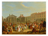 Covent Garden  C1726 (Oil on Copper)