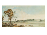 North West View of Wakefield Lodge in Whittlebury Forest  Northamptonshire  1767