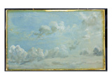 Study of Cumulus Clouds  1822 (Oil on Paper Laid Down on Panel)