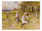 The Primrose Gatherers (W/C on Paper)