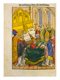 Martin V Is Installed as Pope at the Council of Constance  from 'Chronik Des Konzils Von Konstanz'