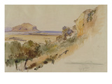 View Near Palermo  1847 (Pen and Ink with W/C over Pencil on Paper)