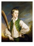 Charles Collyer as a Boy  with a Cricket Bat  1766