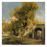 Harnham Gate  Salisbury  C1820-21 (Oil on Canvas)