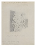Drawing for the Map of the Moon  1794 (Pencil on Paper)