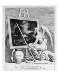 Time Smoking a Picture  1761 (Engraving)