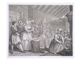 A Harlot's Progress  Plate IV  from 'The Original and Genuine Works of William Hogarth'