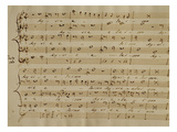 Score of the Kyrie Eleison from the 'Messa a Quattro Voci'  18th Century Copy