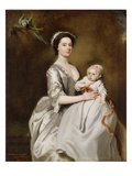 Mrs Sharpe and Child  1731 (Oil on Canvas)