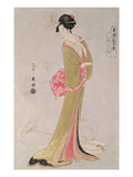 Portrait of a Japanese Woman (Colour Woodblock Print)
