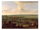 George I (1660-1727) at Newmarket  4Th/5th October 1717  c1717