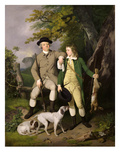 Portrait of a Sportsman with His Son  1779 (Oil on Canvas)