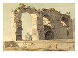 The Claudian Aqueduct  Rome  1785 (W/C  Pen  Ink and Graphite on Paper)