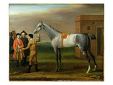 Lamprey  with His Owner  Sir William Morgan  at Newmarket  1723