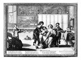 The Blood Letting (Engraving) (B/W Photo)