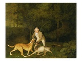 Freeman  the Earl of Clarendon's Gamekeeper  with a Dying Doe and Hound  1800