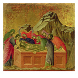 Maesta: the Burial of Christ  1308-11