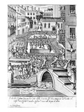 Carnevale Games in Venice (Engraving)