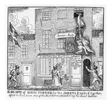 Escape of John Turner  Part of the Story of the Ratcliff Highway Murders from 1811 (Litho)
