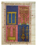 MsOr26 Fol26R Instruments of the Temple  from the Hebrew Bible (Vellum)