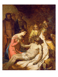 Study of the Lamentation on the Dead Christ (Oil on Paper Laid Down on Panel)