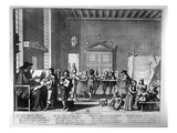 The School Master (Engraving) (B/W Photo)