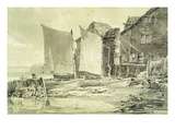Fisherman&#39;s Cottage  Dover  1790S (Pencil and Grey Wash on Laid Paper)