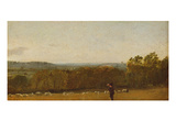A Shepherd in a Landscape Looking across Dedham Vale Towards Langham  C1810