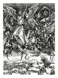 St Michael Fighting the Dragon  1498 (Woodcut)