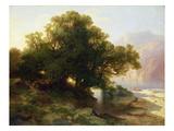 View of Lake Thuner  1854