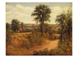 A Lane Near Dedham  C1802 (Oil on Canvas)