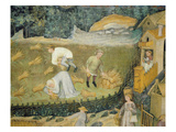 Harvesting Sheaves of Grain (Fresco)