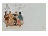 Commemorative Postcard of the Opera 'La Boheme'  by Giacomo Puccini (1858-1924) (Colour Litho)