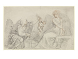 Selling of Cupids  C1776 (Red and Black Chalk with Graphite on Paper)
