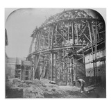 Construction of the British Museum Reading Room  1854-57 (B/W Photo)