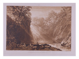 The Fall of the Clyde  Engraved by Charles Turner (1773-1857)  1859-60 (Etching and Engraving)