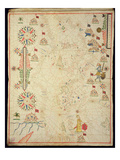 The Mediterranean Basin  from a Nautical Atlas  1646 (Ink on Vellum) (See also 330937-330938)