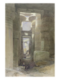 The Great Temple of Amon Karnak  the Hypostyle Hall  1838 (W/C and Gouache over Graphite on Paper)