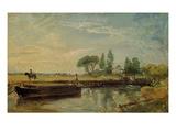 A Barge Below Flatford Lock  c1810
