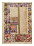 Fol26V the Book of Exodus  from the Borso D'Este Bible Vol 1 (Vellum)