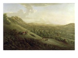 A View of Boxhill  Surrey  with Dorking in the Distance  1733