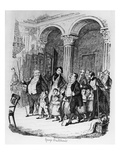 Public Dinners  Illustration from &#39;sketches by Boz&#39;  1836 (Engraving)