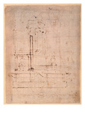 Design for the Tomb of Pope Julius Ii (1453-1513) (Brown Ink on Paper) (Verso)