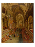 Interior of Canterbury Cathedral  C1675-1700 (Oil on Canvas)