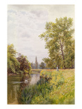 The Thames at Purley  1884 (W/C on Paper)