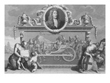 Frontispiece for 'Hudibras' Including a Portrait of Samuel Butler  Engraved by Cosmo Armstrong