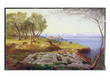 Corfu from Ascension  C1856-64 (Oil on Canvas)
