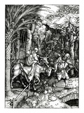 The Flight into Egypt  from the 'Life of the Virgin' Series  Published in 1511 (Woodcut)