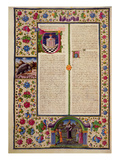 Fol92V Opening to the Book of the Prophet Amos  from the Borso D'Este Bible Vol 2 (Vellum)